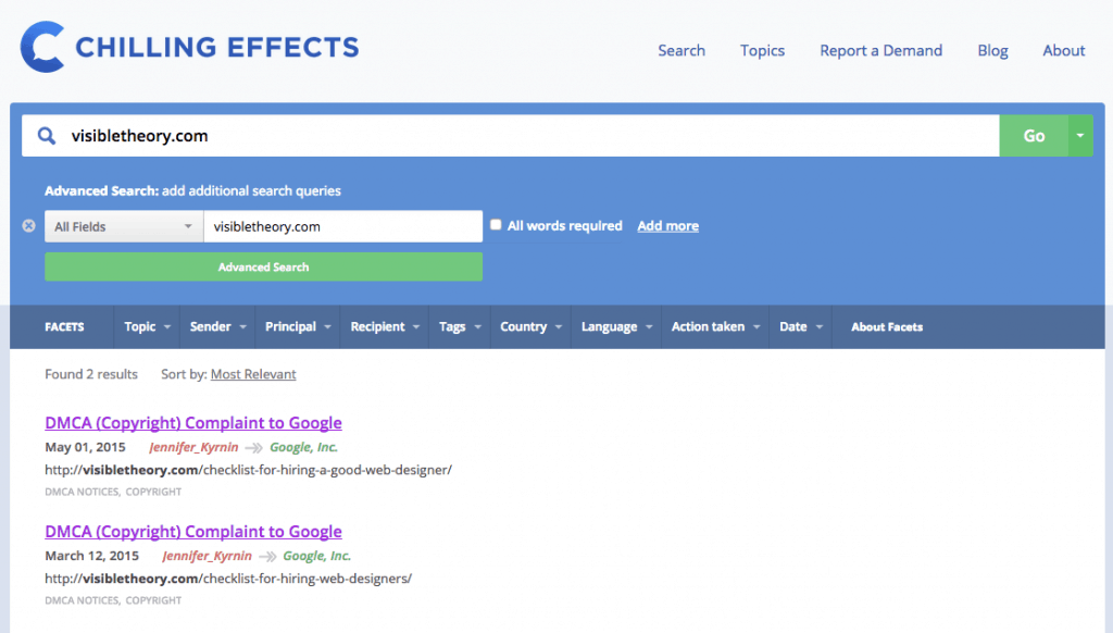 chilling-effects-dmca-notices-search