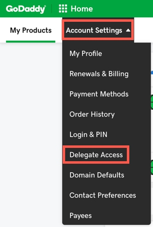 godaddy-delegate-access