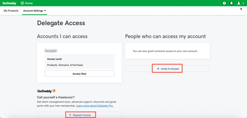 godaddy-invite-user-request-access