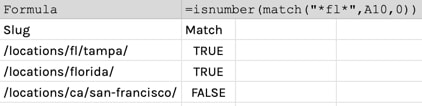 google-sheets-partial-match