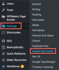 header-and-footer-settings