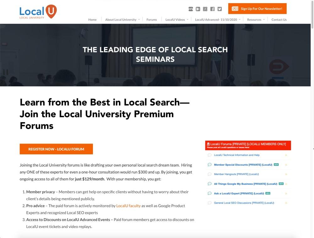local-u-forum