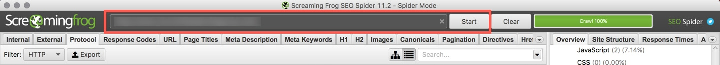 screaming-frog-crawling-website